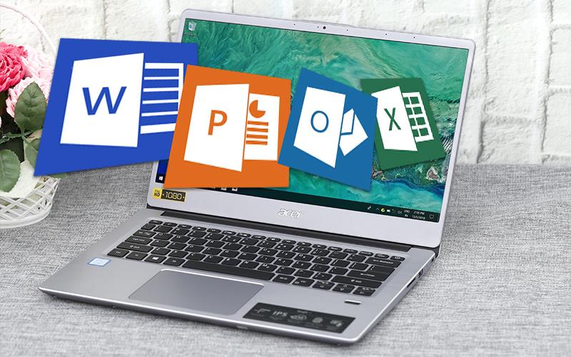 Cấu hình văn phòng trên Laptop Acer Swift SF314 54 38J3 i3