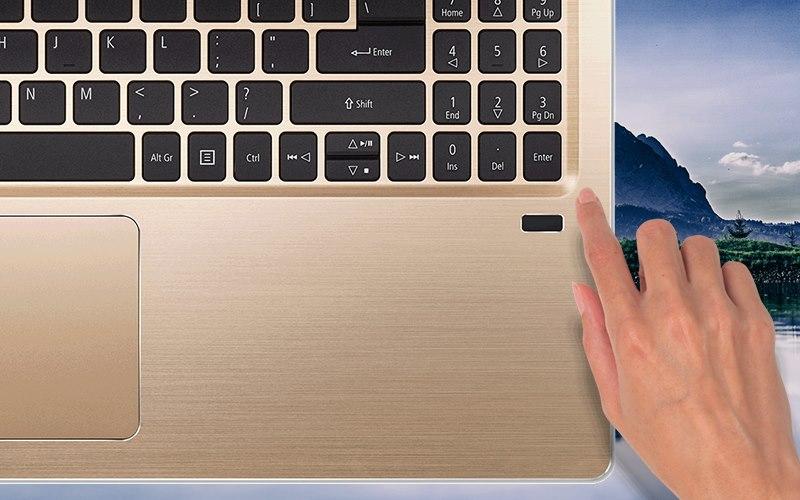 Vị trí cảm biến vân tay trên Laptop Acer Swift SF315 52 50T9 i5