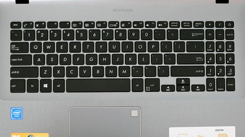 Laptop Asus X507MA (BR318T) có bàn phím chicklet full size
