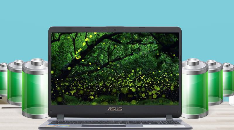 Laptop Asus X507MA có thời gian sử dụng pin liên tục đến 4 tiếng