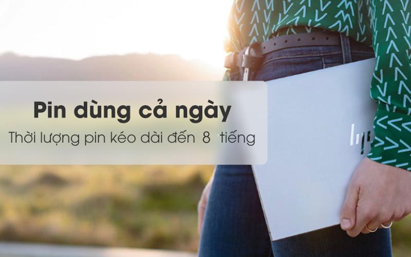 Laptop HP Envy có thời lượng pin sử dụng được 8 giờ