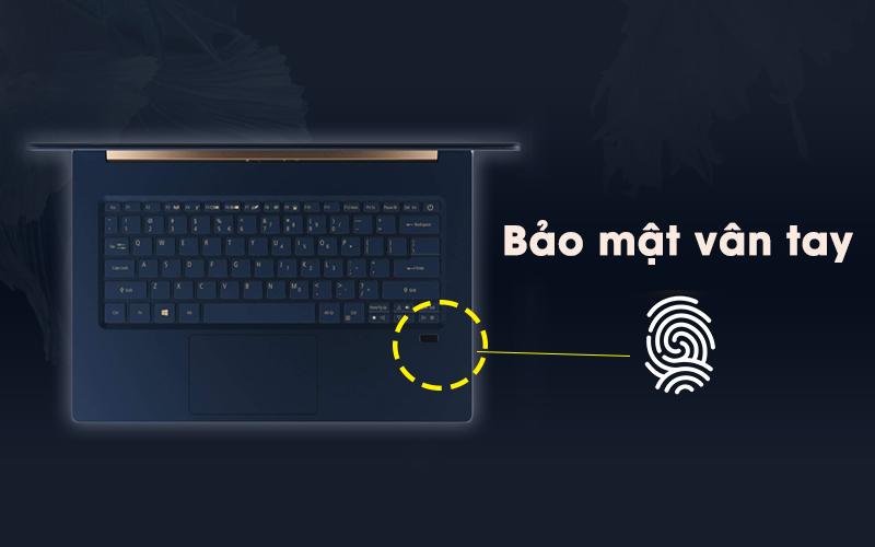 Laptop Acer Swift 5 Air Edition i7 có bảo mật tốt