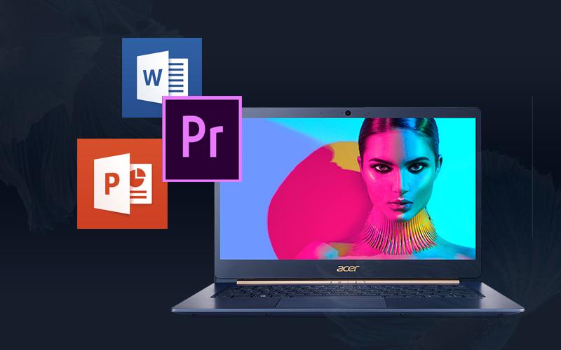 Laptop Acer Swift 5 Air Edition i7 phục vụ văn phòng