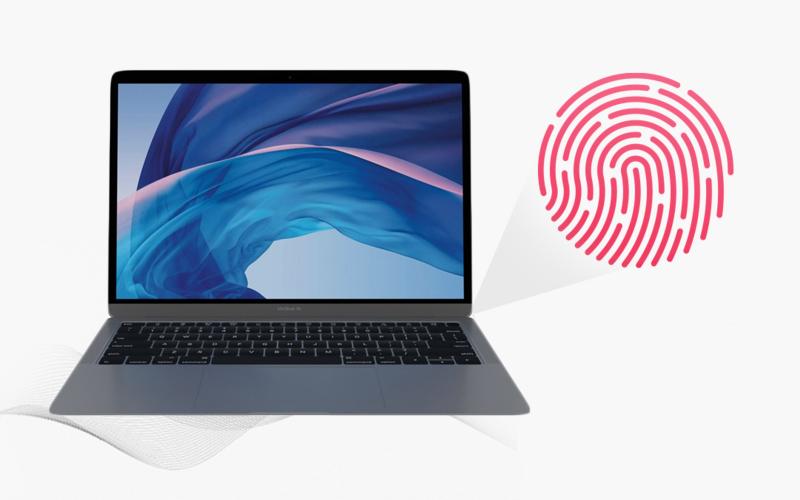 Vân tay trên laptop Apple Macbook Air 128 GB Space Gray MRE82SA/A