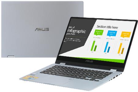 Laptop Asus TP412UA i3 7020U/4GB/256GB/Win10 (EC173T)