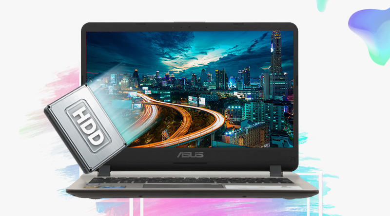 Laptop Asus VivoBook X407UA BV145T cho bạn một không gian lưu trữ lí tưởng