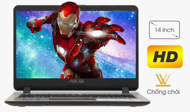 Laptop Asus VivoBook X407UA BV145T đem lại chất lượng hình ảnh rõ nét, màu sắc tươi sáng