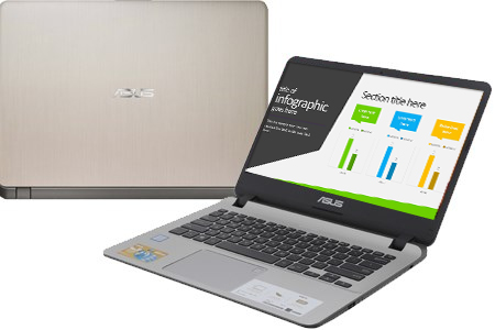Laptop Asus Vivobook X407UF i5 8250U/4GB/1TB/ MX130/Win10 (BV056T)