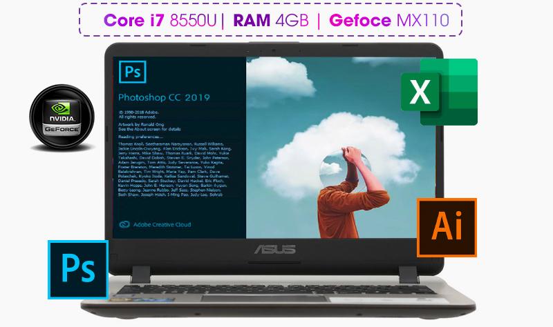 Laptop Asus Vivobook X407UB được tiếp sức mạnh từ bộ vi xử lý Core i7 thế hệ thứ 8