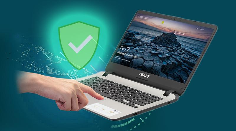 ASUS đã trang bị tính năng cảm biến vân tay cho laptop X407UF - BV022T