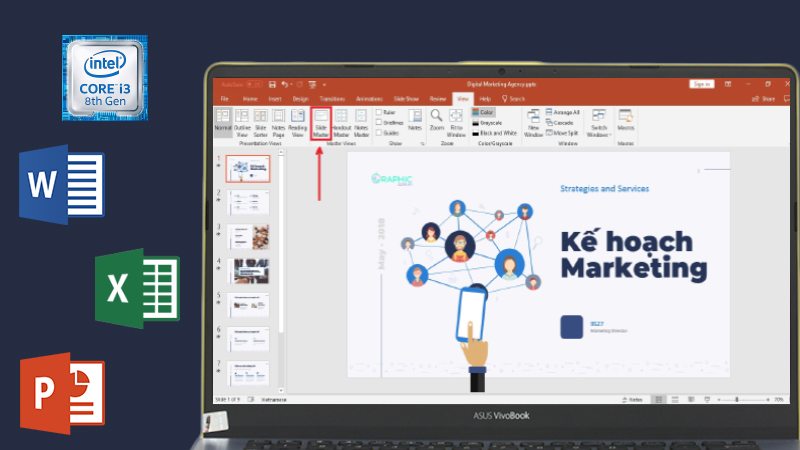 Laptop Asus S430UA - EB100T hiệu năng và đa nhiệm ổn định, xử lý tốt các ứng dụng học tập và văn phòng
