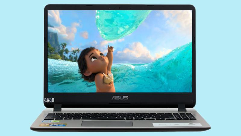 Laptop Asus  X507UF đem đến một cảm giác chìm đắm trong không gian hiển thị