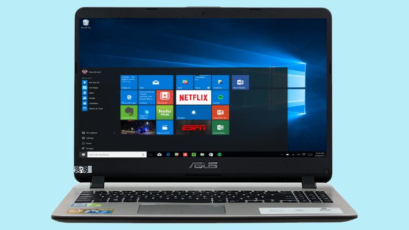 Laptop Asus X507UF i7 8550U được cài đặt sẵn hệ điều hành Window 10 bản quyền
