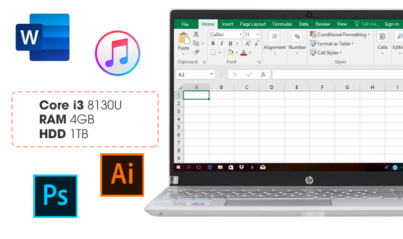Cấu hình khỏe trên laptop HP Pavilion Laptop 15-cs0016TU