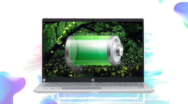 Dung lượng pin khỏe trên laptop HP Pavilion Laptop 15-cs0016TU