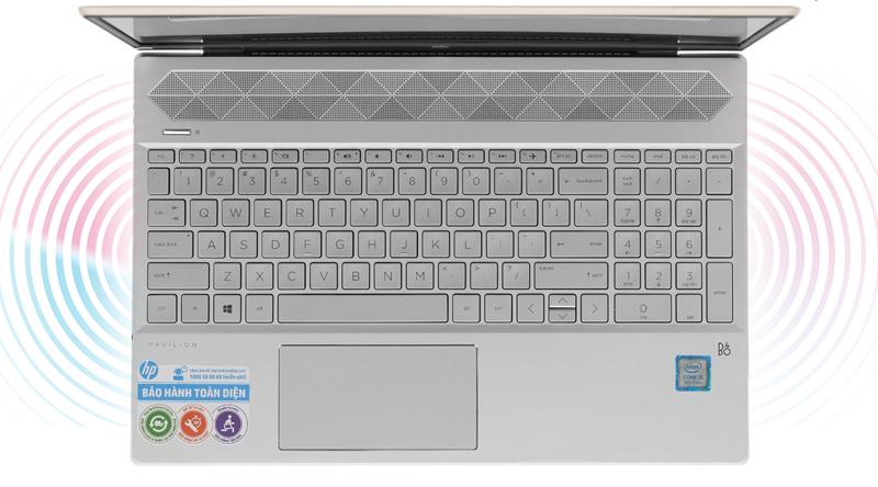 Loa ngoài chất lượng cao trên laptop HP Pavilion Laptop 15-cs0016TU
