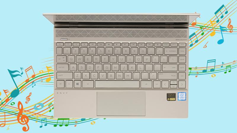 Laptop HP Envy 13 ah1010TU đáp ứng được nhu cầu giải trí đỉnh cao với âm thanh khuếch đại