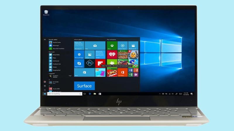 Laptop HP Envy 13 ah1010TU đã được cài đặt sẵn hệ điều hành Windows 10 b