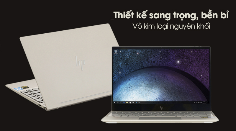 Laptop HP Envy 13 ah1010TU khoác trên mình lớp vỏ kim cao cấp
