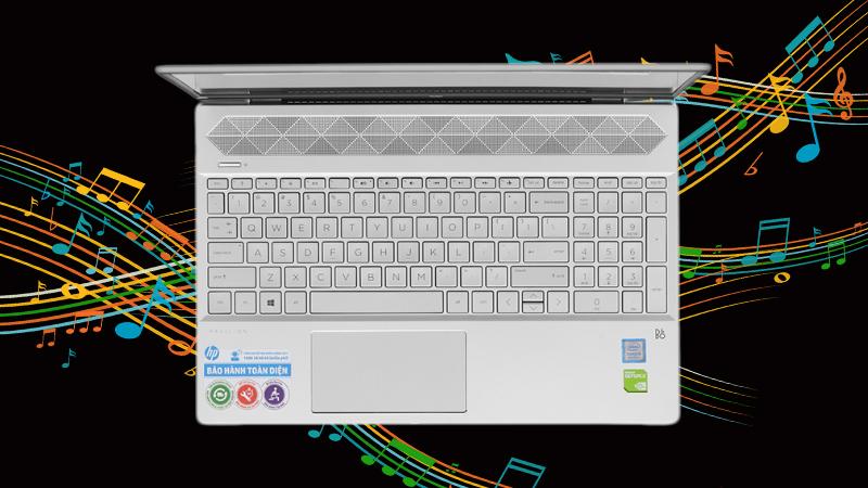 Laptop HP Pavilion 15-cs1081TX 5RL50PA đem đến âm thanh chi tiết