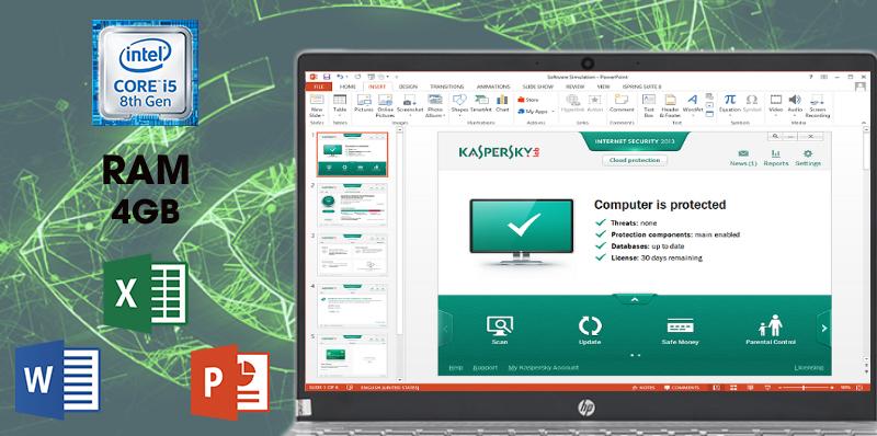 Laptop HP Pavilion 15-cs1081TX 5RL50PA có cấu hình đủ mạnh để chạy mượt các ứng dụng văn phòng, đồ họa, giải trí,....