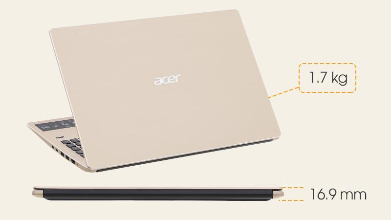 Trọng lượng và độ dày Laptop Acer Swift SF315 52G 58TE