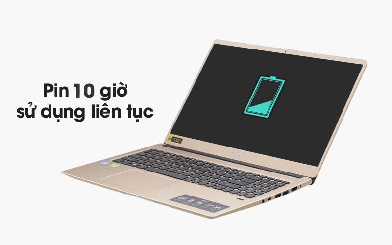 Acer Swift S315 sử dụng được 10 giờ liên tục không cần cắm sạc