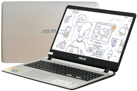 Laptop Asus VivoBook X507UF i3 8130U/4GB/1TB/2GB MX130/Win10 (EJ117T)