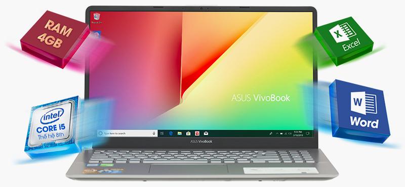 Laptop Asus VivoBook S15 sử dụng Chip Intel Core i5 thế hệ thứ 8