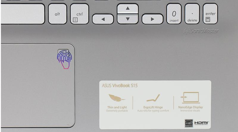 ASUS VivoBook S15 vân tay