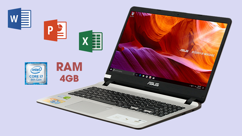 Laptop Asus Vivobook X507UB-BR354T vận hành bởi chip Intel Core i7 thế hệ thứ 8