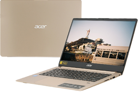 Laptop Acer Swift SF114 32 C9FV N4000/4GB/64GB/Win10 (NX.GXQSV.002)