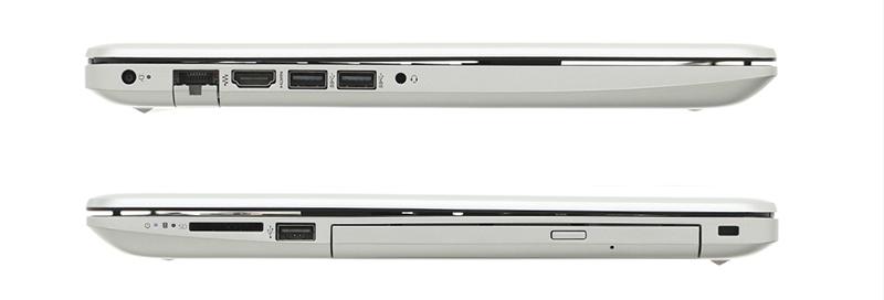 Ổ đĩa quang và nhiều cổng kết nối của laptop HP 15 da1022TU