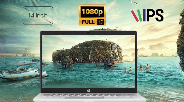 Laptop HP Pavilion 14-ce1012TU 5JN66PA có hình ảnh sắc nét, góc nhìn rộng