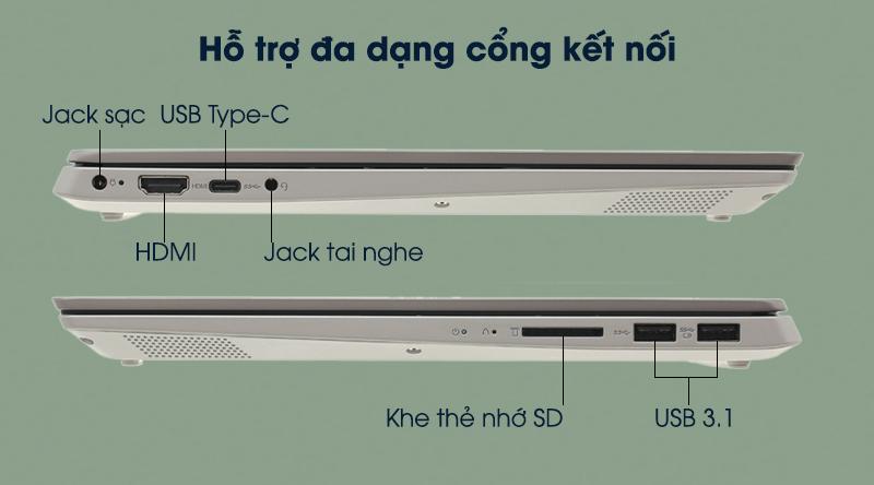 Lenovo IdeaPad S340 14IWL i3 8145U hỗ trợ kết nối với nhiều thiết bị ngoại vi, màn hình và máy chiếu.