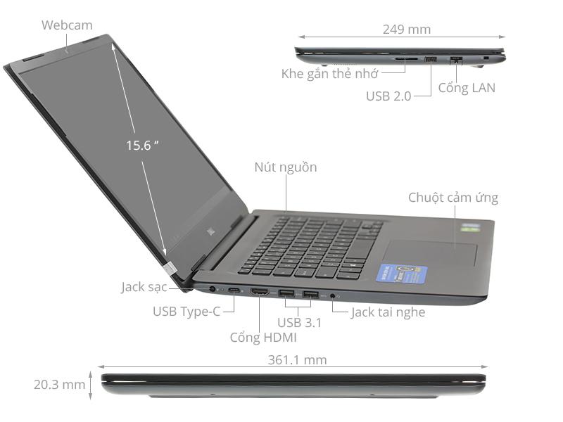 Laptop Dell Vostro 5581 i5 8265U/4GB/1TB/Office365/Win10 (70175950)