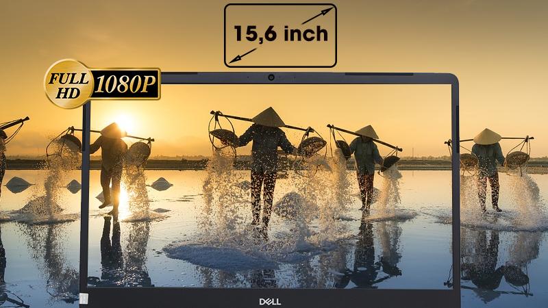 Dell Vostro 5581- 93S1GT2 sở hữu màn hình 15,6 inch viền mỏng