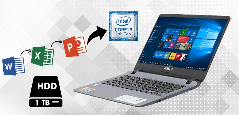 Cấu hình laptop ASUS X407UA