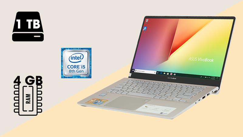 Laptop Asus VivoBook S14 S430FA-EB074T trang bị chip Intel Core i5,4GB RAM chạy tốt các ứng dụng văn phòng hiện hành