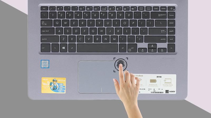 Laptop Asus A510UA (EJ1217T) với bảo mật vân tay thông minh