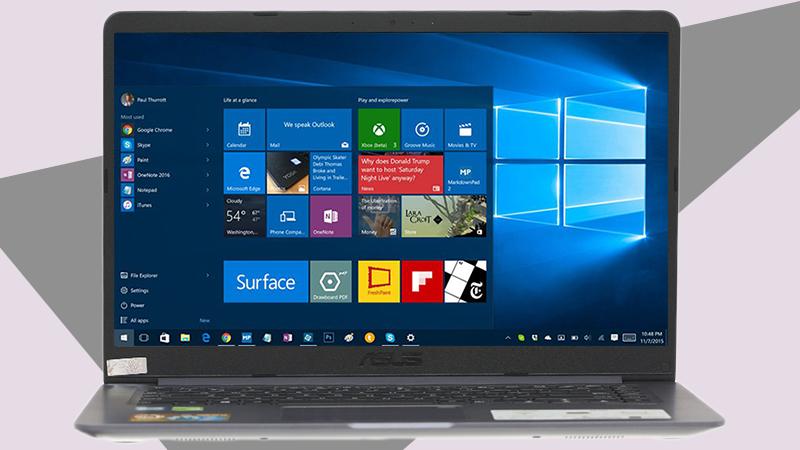 Laptop Asus A510UA (EJ1217T) được cài đặt sẵn Win10 bản quyền