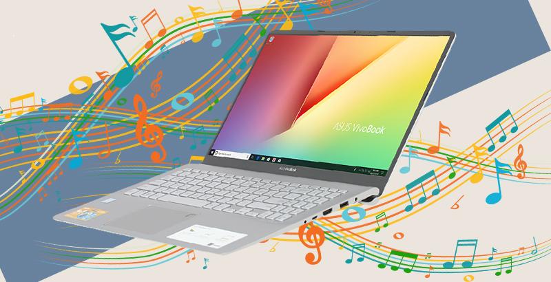 Laptop Asus Vivobook S15 S530 xử lý và lọc ồn, nâng cao độ rõ nét của âm thanh.