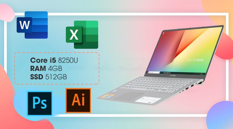 Asus VivoBook S530FN-BQ139T có cấu hình xử lí mượt mà các tác vụ văn phòng