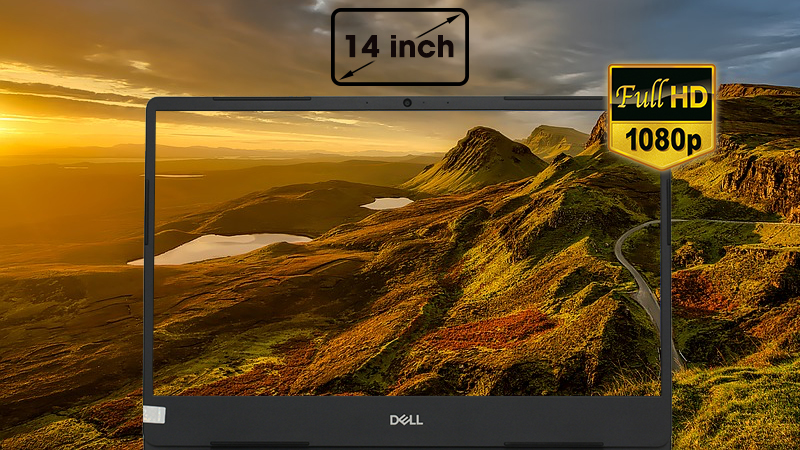 Laptop Dell Inspiron 5480 duy trì màu sắc sống động trên tất cả các vị trí