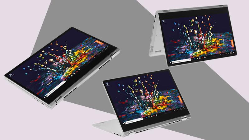 Laptop Lenovo ideapad C340 có thể sử dụng chiếc laptop như máy tính bảng thông thường.