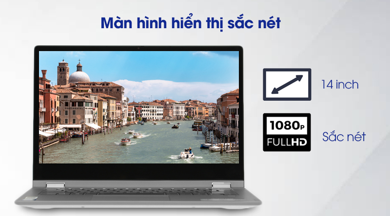 Laptop Lenovo Ideapad C340 14IWL i3 (81N4003SVN) - Màn hình