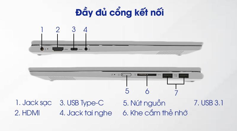 Laptop Lenovo Ideapad C340 14IWL i3 (81N4003SVN) - Đầy đủ cổng kết nối