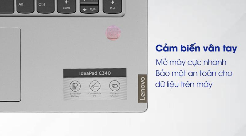 Laptop Lenovo Ideapad C340 14IWL i3 (81N4003SVN) - Cảm biến vân tay
