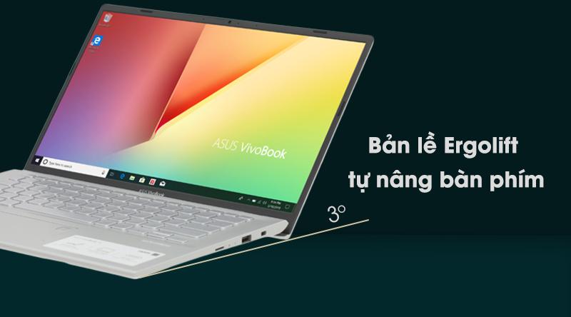 Laptop Asus Vivobook A412F i3 8145U cho cảm giác gõ chữ thoải mái