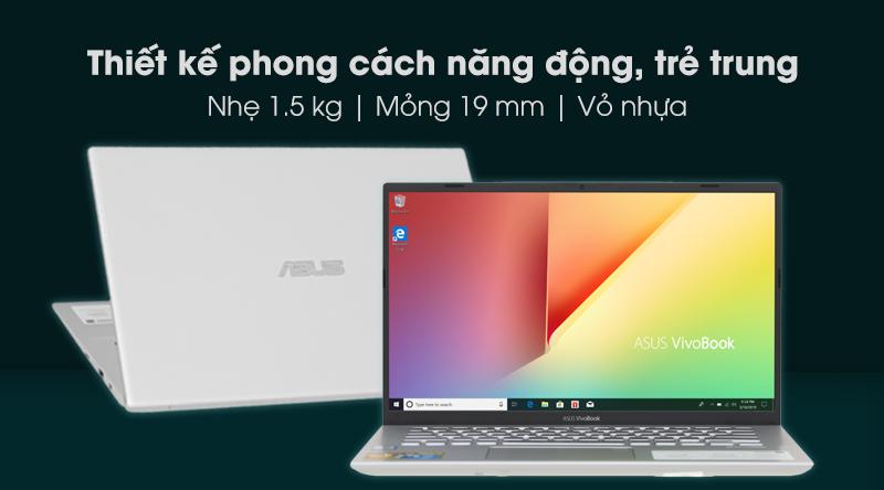 Laptop Asus Vivobook A412F i3 8145U sang trọng, gọn nhẹ